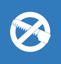 icon no saws vector image