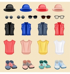 Hipster girl accessories vector