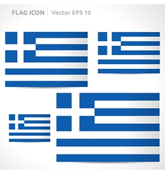 Greece flag template vector