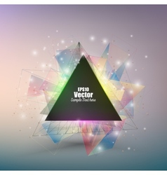 Abstract triangle banner with place for text vector