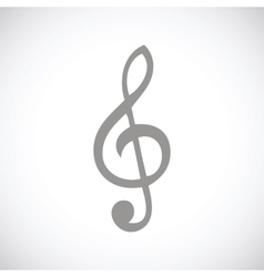 Treble clef black icon vector