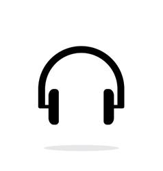 Headphones icon on white background vector image