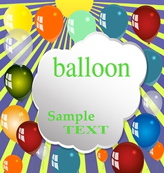 Balloon celebration group event festival colour fu vector