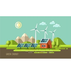 Green energy ecology environment vector
