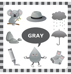 Gray color vector