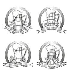Beer Mug Set vector image