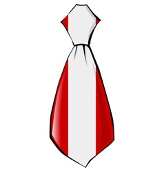 Necktie in national colours of peru vector
