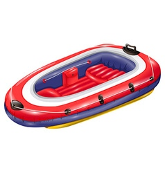 Rubber boat vector