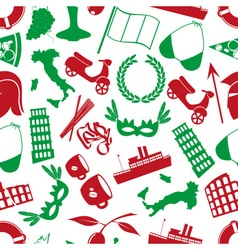 italy country theme various icons seamless pattern vector image
