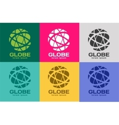 Abstract earth logo Globe logo icon vector image