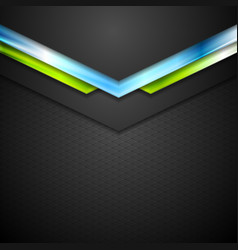 Abstract technology background with blue green vector