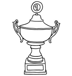 Champions trophy cup vector