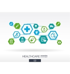 Hexagon abstract medicine background vector