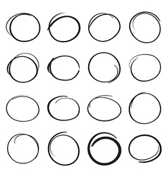 Hand drawn scribble circles vector