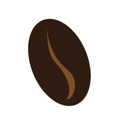 Brown coffee bean graphic vector