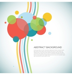 Abstract circles background with lines vector image