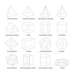 All basic 3d shapes template realistic with vector