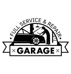 Auto center garage service and repair logo vector