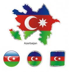 Azerbaijan flag vector image vector image