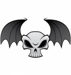 batwing skull vector image