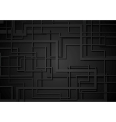 Black geometric tech corporate background vector image
