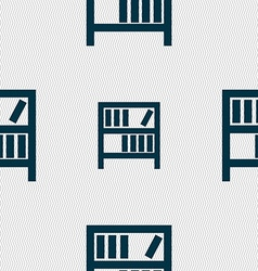Bookshelf icon sign seamless abstract background vector