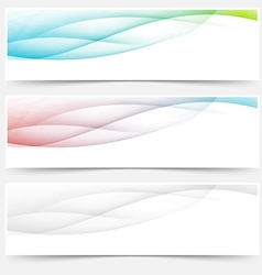 Bright web headers footers wave swoosh vector