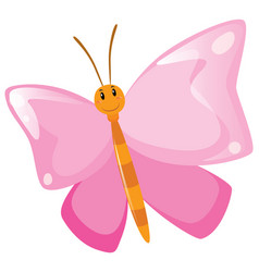 butterfly with pink wings vector image