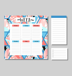 calendar 2017 and monthly planner creative vector image