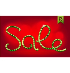 Christmas sale lettering vector