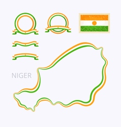 Colors of Niger vector image vector image