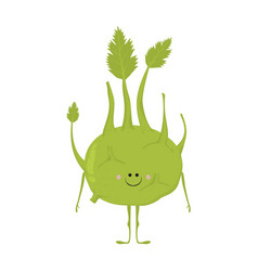 Funny vegetable card vector