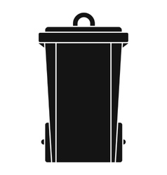 Garbage bin icon simple style vector image