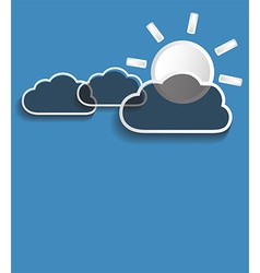 Grey clouds with sun vector