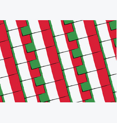 Grunge italy flag or banner vector