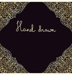 hand drawn highly detailed frame vector image