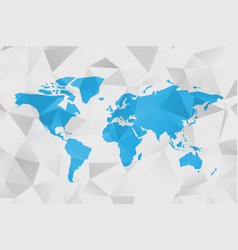 low poly map of world polygonal design in vector image
