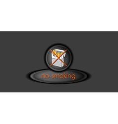 no smoking button vector image vector image