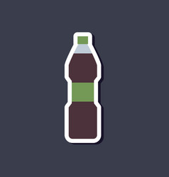 Paper sticker on stylish background soda bottle vector
