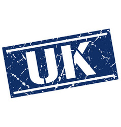 uk blue square stamp vector image vector image