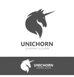 unicorn logo template vector image
