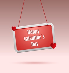 Valentines wishes on red the tag vector image vector image