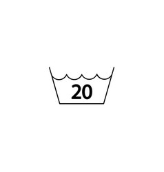 wash below or at 20 degrees icon isolated sign vector image