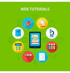 Web tutorials infographic concept vector