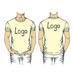 white t-shirt template vector image vector image
