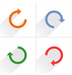 Arrow icon refresh rotation repeat reload sign vector