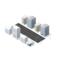 City boulevard isometric vector