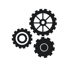 Gear work mechanical cooperation pictogram vector