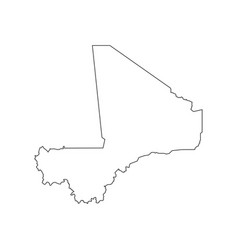 Mali map outline vector