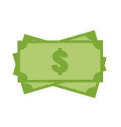 money icon on white background money sign flat vector image